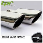 HWK-ET01 Насадки на глушитель EXHAUST TIPS RRS 2010 HAWKE STRAIGHT CHROME SHELL комплект 2шт
